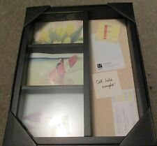 14 x 16 WOOD PICTURE WALL FRAME-Collage-3-5 x 7's plus Cork Board