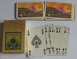 Vintage David Westnedge Playing Cards PINK FLOWER ART complete pack