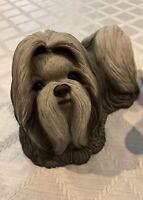 "Vintage Sandicast 8"" Shih Tzu Ancient Chinese Dog Signed Sandra Brue 4.15lbs"