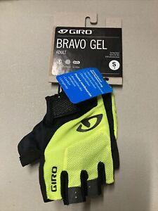 ! Giro Bravo Gel Adult Small Cycling MTB Bike Gloves Highlighter Yellow
