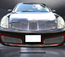 Fedar Fits 2003-2004 Infiniti G35 Sedan Polished Lower Bumper Billet Grille