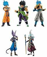 BANDAI HG Dragon Ball super 02 Gashapon 5set mascot capsule Figures Complete set