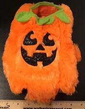 New Halloween Jack O'Lantern Pumpkin Padded Furry Pet Costume Size XS Simply Dog
