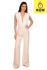 RRP €1305 JENNY PACKHAM Tailored Trousers Size 12 / M High Waist Wide Leg