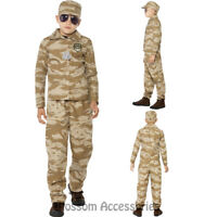 CK756 Desert Army Camouflage Military Soldier Fancy Dress Boys Kids Camo Costume