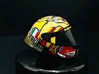 1:12 AGV Resin Helmet Valentino Rossi 2012 Misano MotoGP NO Spark Minichamps New