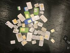 Lot 40 Sim Cards At&T Mobile Verizon Cricket Variety / 2Gb, 4Gb, 8Gb memory card