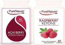 60 Lampone Chetoni 2000mg 60 Acai Berry EXTREME dieta bruciagrassi Pillole Dimagranti