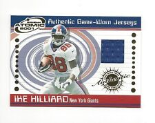 2001 PACIFIC PRISM ATOMIC IKE HILLIARD GAME-USED JERSEY #55 NEW YORK GIANTS
