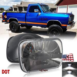 "105W 7x6"" 5x7"" Led Headlight Hi/Lo H4 for Dodge D150 D250 W350 1981-1993 Trucks"