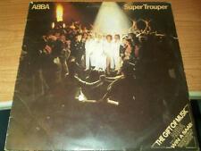LP ABBA SUPER TROUPER EPIC EPC 10022 VG-/VG- HOLLAND PS 1980 PV
