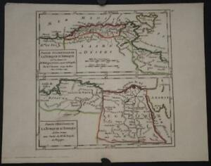 NORTH AFRICA 1748 ROBERT DE VAUGONDY ANTIQUE ORIGINAL COPPER ENGRAVED MAP