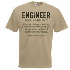 Mens Khaki Engineer Defined T-Shirt Engineering Student TShirt Funny Novelty