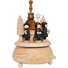 Spieluhr Spieldose Kurrende und Kirche Holz natur Weihnachtsdekoration
