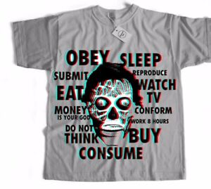 They Live Horror Gore Sci Fi Disobey Sci Fi Chinese Japanese Film Movie T Shirt