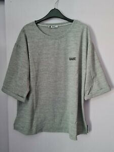LADIES GREY CASUAL TEXTURED TOP IN A SIZE 22