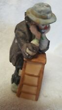 Vintage Emmett Kelly Jr. Clown Figurine Leaning & Thinking Flambro