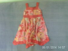 Girls 3-4 Years - Pink Floral Pattern Sleeveless Summer Dress - Florence & Fred