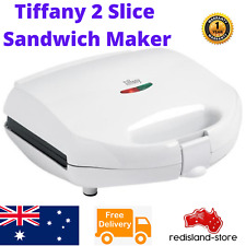 Tiffany Electric Toasted Sandwich Maker Press Toast square Jaffle bread 2 Slice