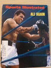 Muhammad Ali Joe Frazier Dual Signed Sports Illustrated Full Psa/Dna Loa Rare