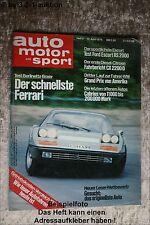 AMS Auto Motor Sport 8/76 Ferrari BB Volvo 244 Ford RS 2000 VW Käfer