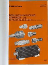 Rohde&Schwarz UHF-Leistungsdämpfungsglieder RBU Bedienungsanleitung / Manual
