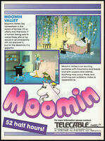 MOOMIN VALLEY__Original 1990 Trade AD / TV promo / poster__LARS / TOVE JANSSON