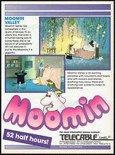 MOOMIN VALLEY__Original 1990 Trade AD / TV promo / poster__LARS / TOVE JANSSON