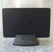 Oakley Black Display Card & Stand BNWOT New Rare KeyChain Bob Skull Juliet Ring
