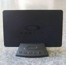 Oakley Black Display Card & Stand BNWOT New Rare KeyChain Bob Skull Juliet Ring