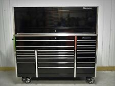 Snap On Black KRL1023 Tool Box, Stainless Top and KRL1072 Hutch