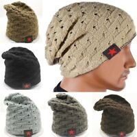 Unisex Knitted Skull Messy Slouchy Baggy Beanie Oversize Winter Warm Hat Ski Cap