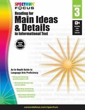 Spectrum Reading for Main Ideas and Details in Informational Text, Grade 3 (Sp..