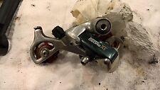 Vintage Shimano m735 xt rear derailleur with billet wheels