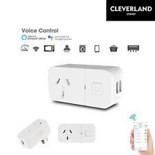 Wireless Wifi Smart Power AU Plug Socket Outlet Switch For ALEXA GOOGLE two USB