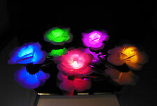 50 Color-Changing LED Light-Up Flower Hair Clip - Glowing Party Favors