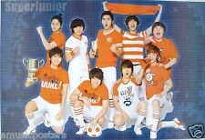 "SUPER JUNIOR ""FOOTBALL & TROPHIES"" ASIAN POSTER - Korean K-Pop Music Boy Band"