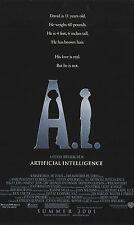 Künstliche Intelligenz voraus (2001) ein Spielberg Produktion 1 Blatt gerollt
