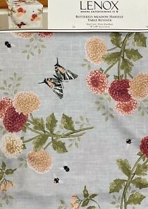 Lenox Butterfly Meadow Harvest  Fall Table Runner Water Repellent