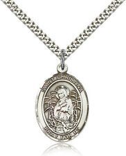 Saint Christina The Astonishing Medal For Men - .925 Sterling Silver Necklace...
