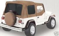 1988-1995 soft top Jeep YJ Wrangler FOR HALF DOORS SPICE replacement top 9870217