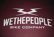 1 WETHEPEOPLE WHITE BMX BICYCLE COMPANY STICKER / DECAL #62 / AUFKLEBER