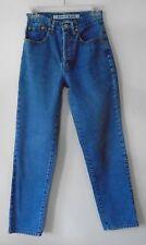 YOYO Jeans Medium Blue High Waist Button Fly Straight Leg 100% Cotton Size 5