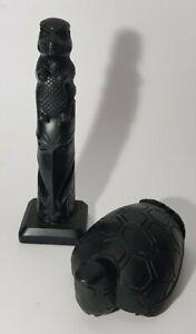 BOMA CANADIAN NATIVE SPIRITS BLACK TOTEM POLE & TRANSFORMER TURTLE WIZARD