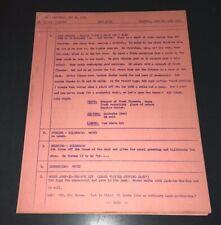 CAPTAIN KANGAROO (1961) RARE ORIG. MIMEO PROD. SCRIPT - #1434 - XF!