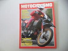 MOTOCICLISMO 8/1986 YAMAHA SRX 600/APRILIA TUAREG 350/CAGIVA ELEFANT 650/OASIS