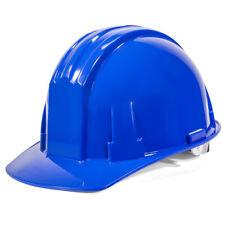 Hi Vis Safety Hat Cap Ratchet Suspension Construction Protection Helmet, Blue