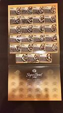 Green Bay Packers Super Bowl 31  Anniversary Pin Collection Folder Autographed