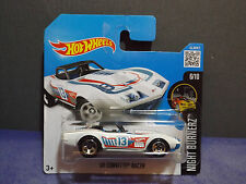 Hot Wheels '69 Corvette Racer. 2016 Hw Night Burnerz car 6/10.Short Card.