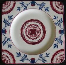 Pair 2 France Porcelaine Opaque F.F. Pexonne Square Bread Side Plates 8-86S